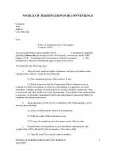 termination of contract sample contract termination notice letter