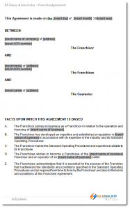 termination of lease agreement franchise agreement sample