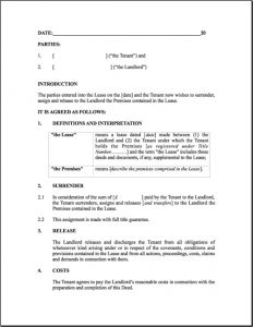 termination of lease agreement surrender of lease template rental agreement cancellation rental agreement letter