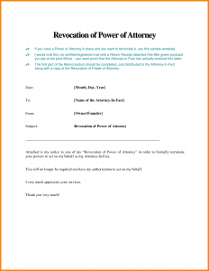 termination of lease letter power of attorney business letter sample