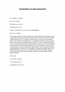termination of lease termination of lease agreement