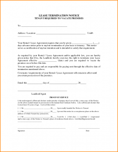 termination of lease termination of lease agreement