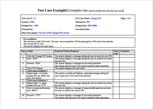 test case template comples test case template with example pdf format
