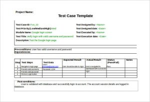 test case template download test case template with example word format