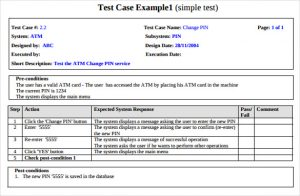 test case template printable software engineering test case with example