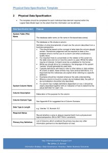 test strategy document physical data specification template