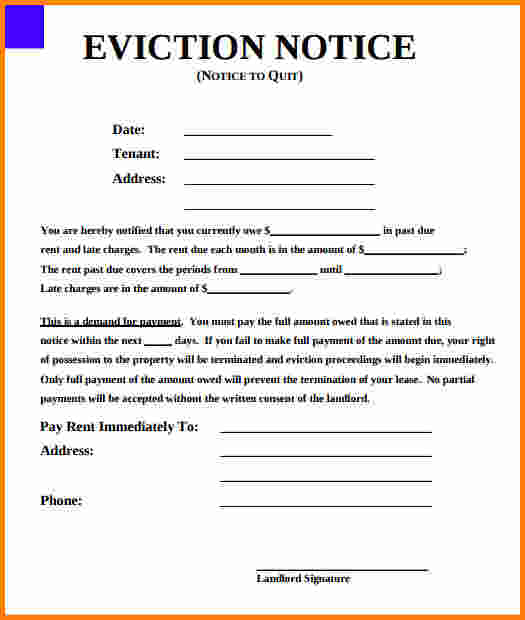 texas eviction notice form