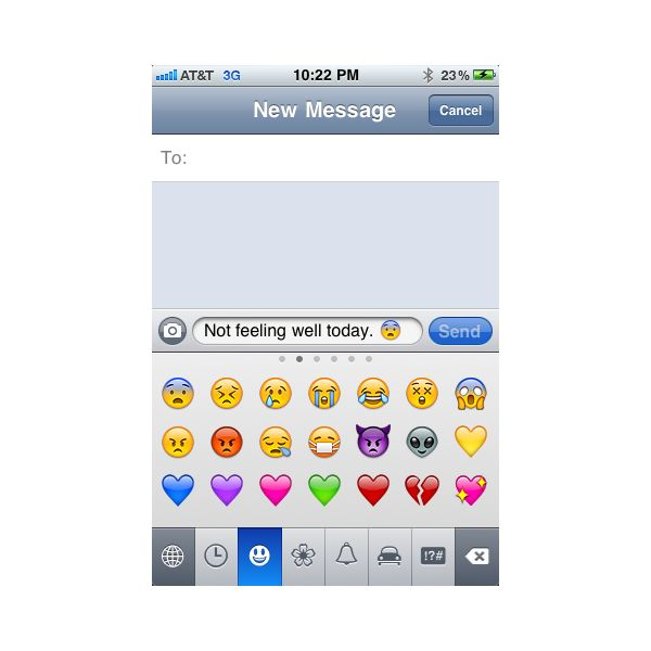 text message emoji