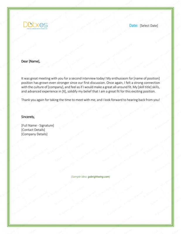Thank You Email For Interview  Template Business