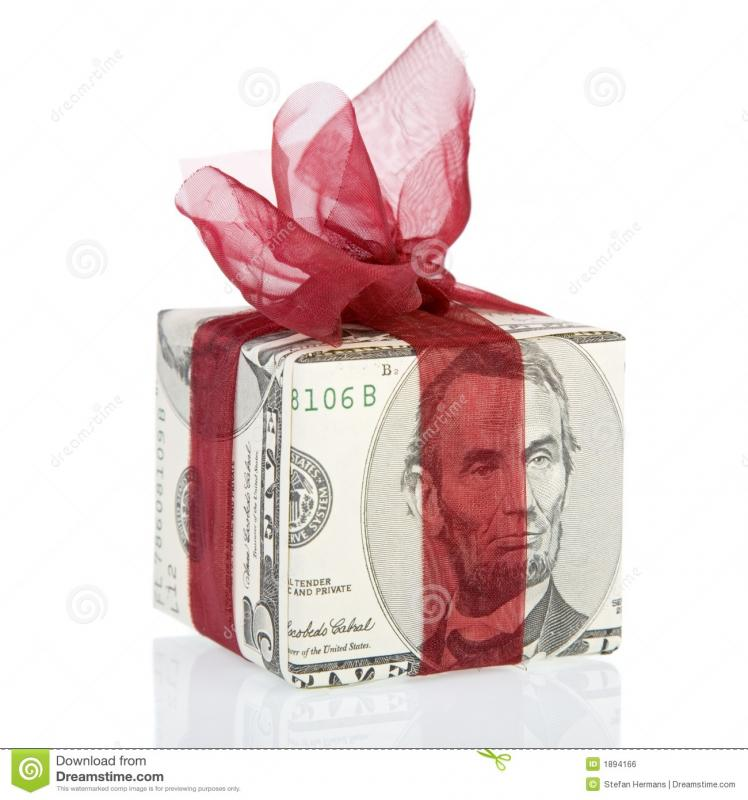 thank you for money gift