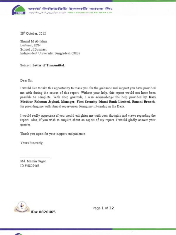 Thank You For Your Support Letter | Template Business