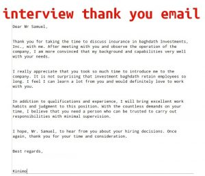 thank you interview email interview thank you email