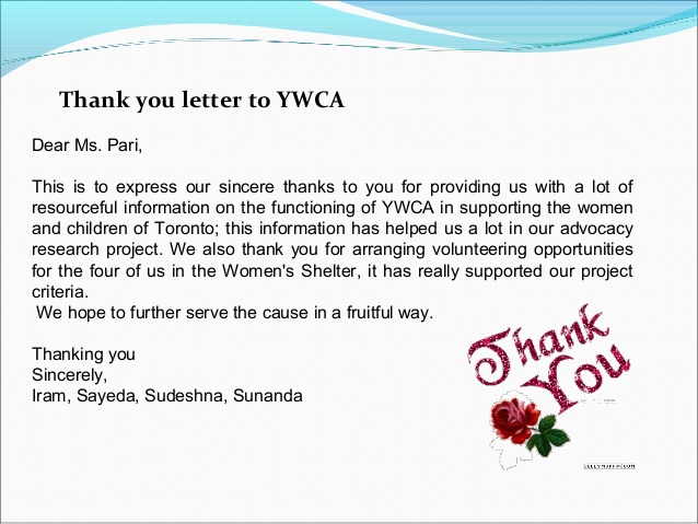 thank you letter business