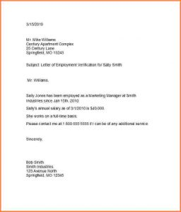 thank you letter business letter of employment template proof of employment letter