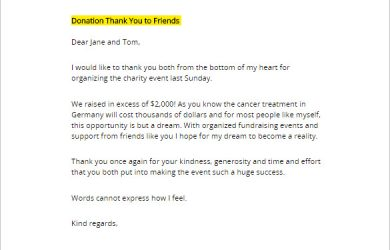 thank you letter for donation sample printable donation thank you letter