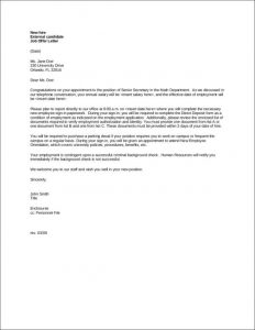 thank you letter for job offer accepted new hire job offer letter