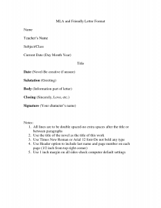 thank you letter for referral mla friendly letter format