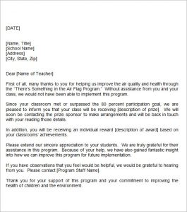 thank you letter for teacher sample teacher thank you letter