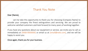 thank you letter to customer customer thank you note