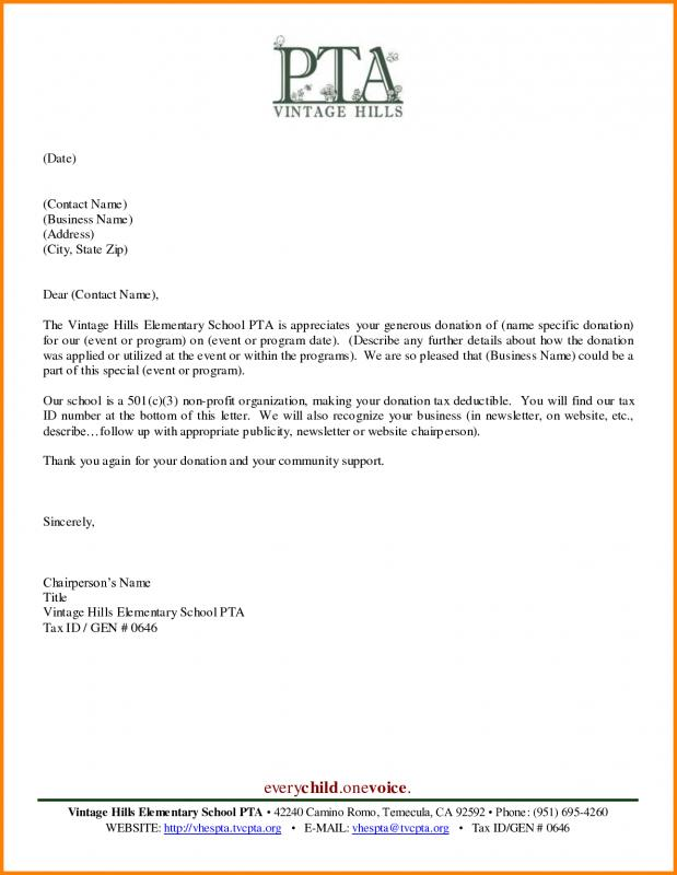 Thank You Letter To Scholarship Donor  Template Business