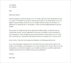 Thank You Letter To Teacher | Template Business