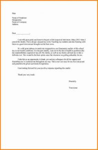 thank you letters to teachers letter of resignation teacher colleagues support thank opportunity letter of resignation teacher sample elementary school health conditions