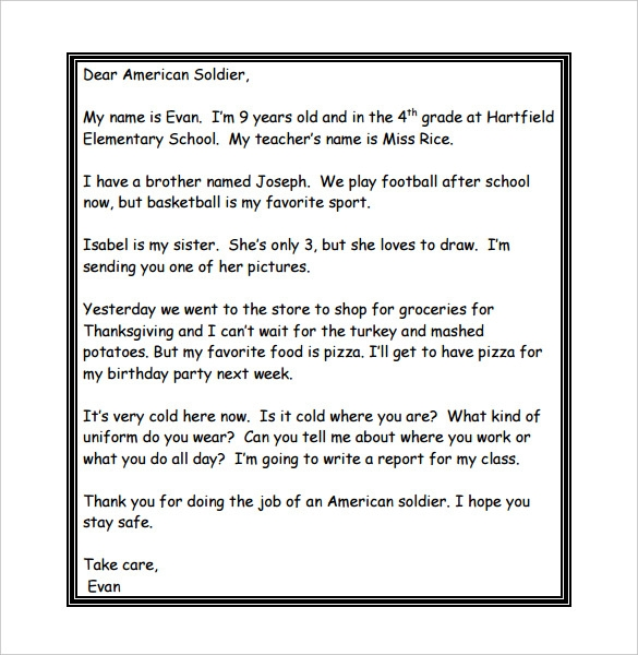 thank you letters to veterans examples