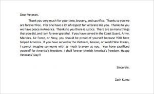 thank you letters to veterans examples thank you letters to veterans example