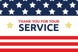 thank you note for appreciation military service