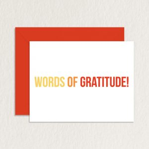 thank you note for appreciation words of gratitude mockup