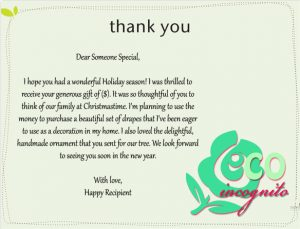 thank you note for gift thank you