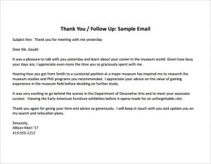 thank you note for interview thank you note after informational interview