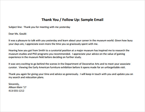 Thank You Note For Interview  Template Business