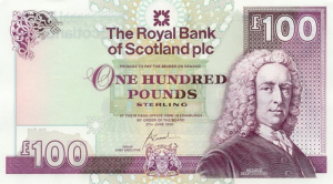 thank you note for money scottish pound royal bank of scotland banknote front issued