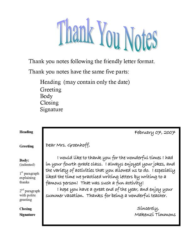 Thank You Note Template  Template Business
