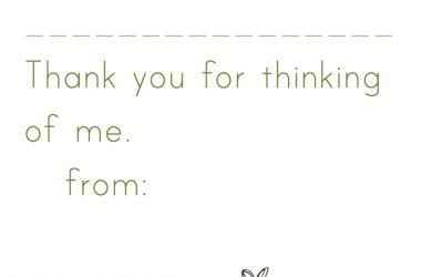 thank you note template thankyounote simple