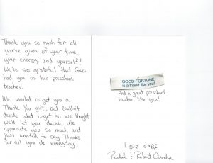 thank you note to preschool teacher thank you card gabi arocha large
