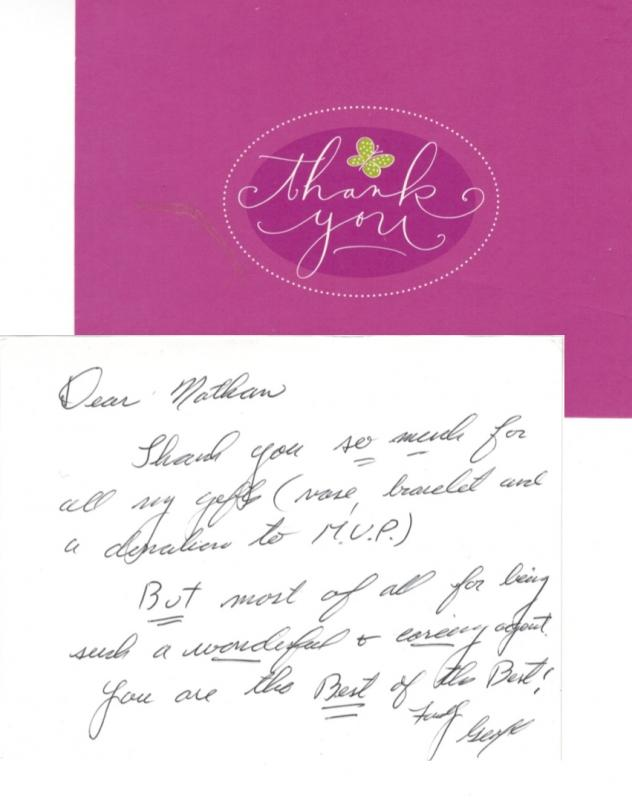 thank you note to realtor