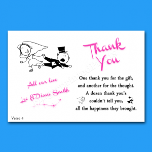 thank you note to realtor thank you card verses personalised wedding thank you notescards verse reluctant groom for the gift and another for the thought