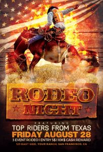 thanksgiving menu template rodeo night flyer template awesomeflyer com