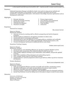 theatre resume example operations manager management resume full