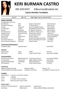 theatre resume template musical theatre resume examples