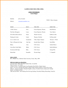Theatre Resume Template Theatre Resume Example Acting Resumes Templates  Theatre Resume Template Google Docs