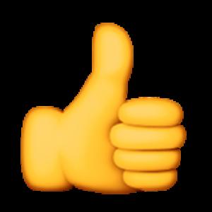 thumbs up emoji text cca fccc ff eaacf