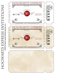 ticket invitation template cedebfeaaeaa harry potter diy harry potter parties