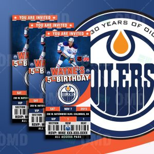 ticket invitation template edmonton oilers invite product