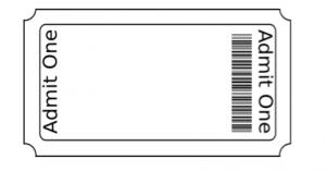 ticket stub template screen shot at am