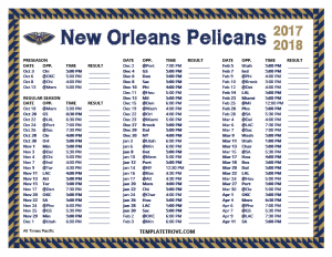 time schedule templates printable new orleans pelicans schedule pacific times