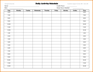 time scheduler template time schedule template