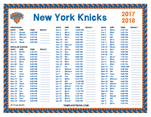 time schedules templates printable new york knicks schedule pacific times